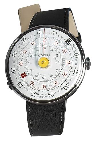 6b8b077d4b02 klokers Reloj Analógico - Correa de Cuero Intercambiable - Movimiento de  Fabricación Suiza - High Tech Ronda  Amazon.es  Relojes