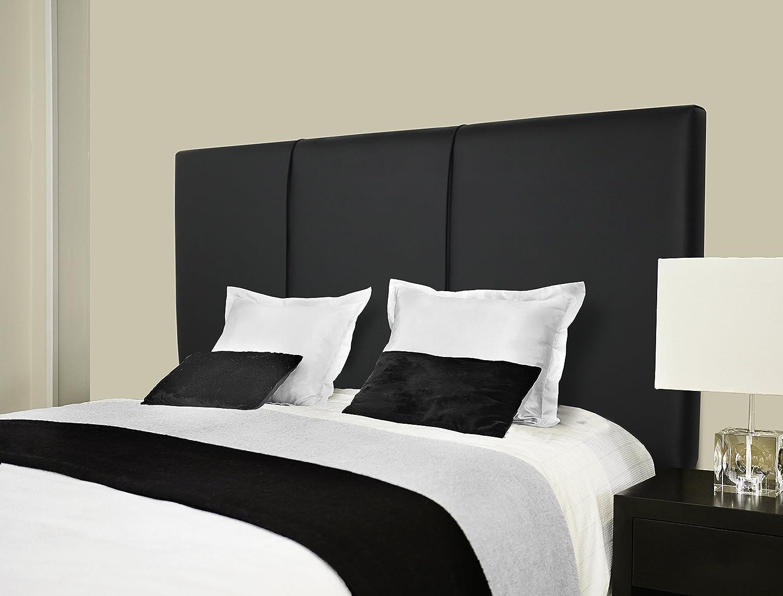 SERMAHOME- Cabecero Andorra tapizado Polipiel Color Negro. Medidas: 110 x 55 x 7 cm (Camas 80, 90 y 105 cm).: Amazon.es: Hogar