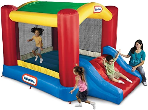 Little-Tikes-Jump-'n-Slide-Bouncer-with-Arched-Canopy-Overhead-Cover
