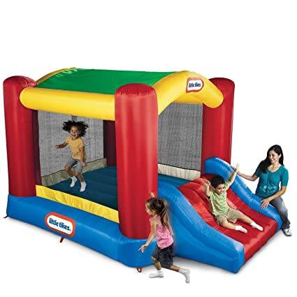 e97d5b47b170 Amazon.com  Little Tikes Shady Jump n Slide Bouncer  Toys   Games