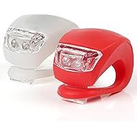 KooPower LED Bike Lights Set, 2 Pack, White & Red