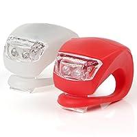 KooPower LED pour vélo, Lot de 2, Blanc et Rouge
