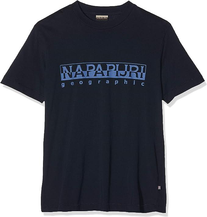 Napapijri Sevora BLU Marine Camiseta para Hombre: Amazon.es: Ropa y accesorios