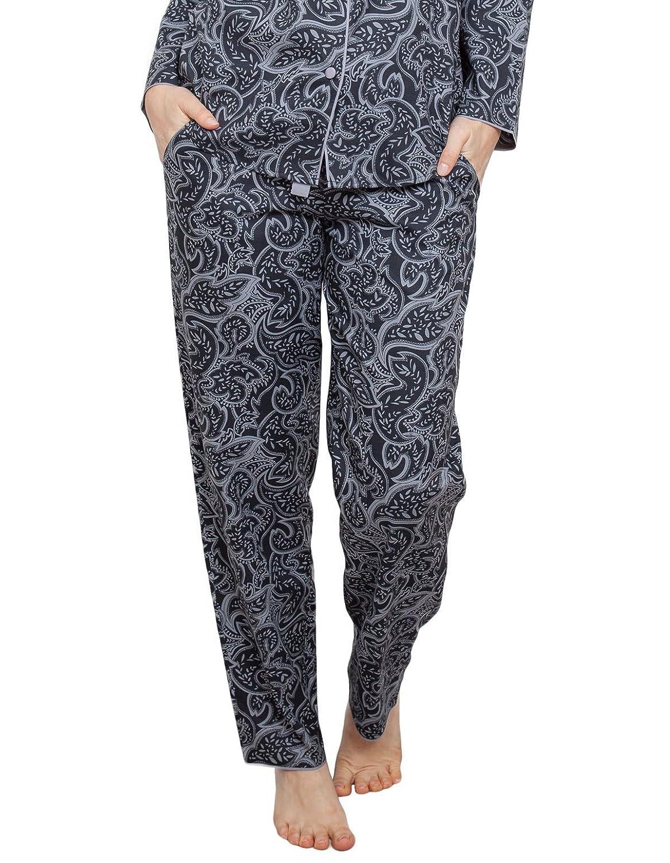 TALLA 34. Cyberjammies 3817 Women's Mae Black Paisley Pajama Pyjama Pant