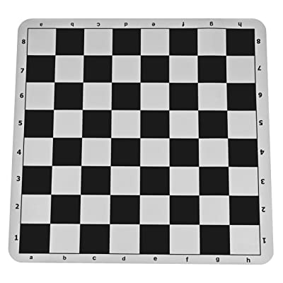 The Original 100% Silicone Tournament Chess Mat - 20 Inch Board, Black - by WE Games: Toys & Games