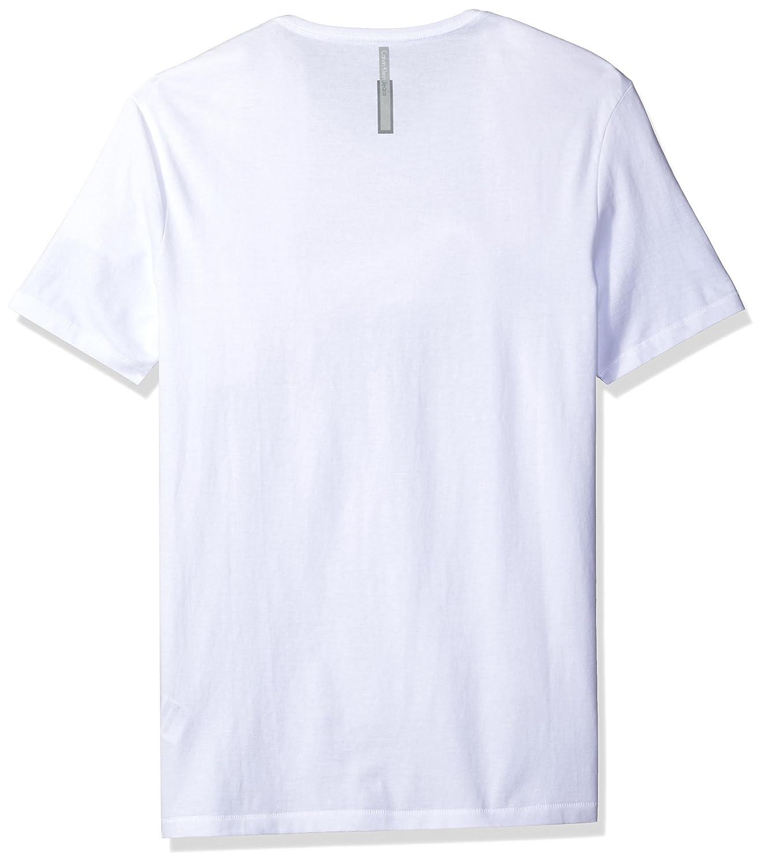 b50987a89c72f Calvin Klein Jeans Men s Short Sleeve Metallic Blocks Ck Logo T-Shirt
