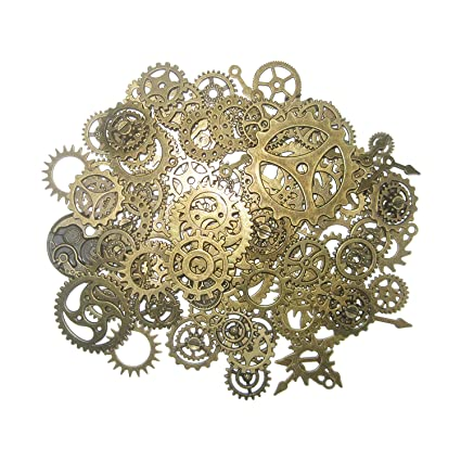 amazon com steampunk gears and cogs suta 110 grams approx 70 pcs