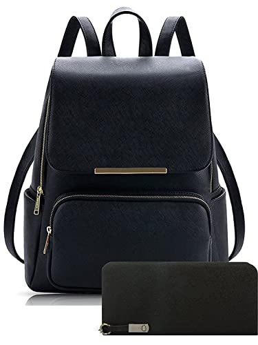 Alice Pu Material Girls Cadence Casual Backpack School   College Bag And  Clutc Combo(Prebkp9) (Black With Clutch)  Amazon.in  Shoes   Handbags d56e75856c