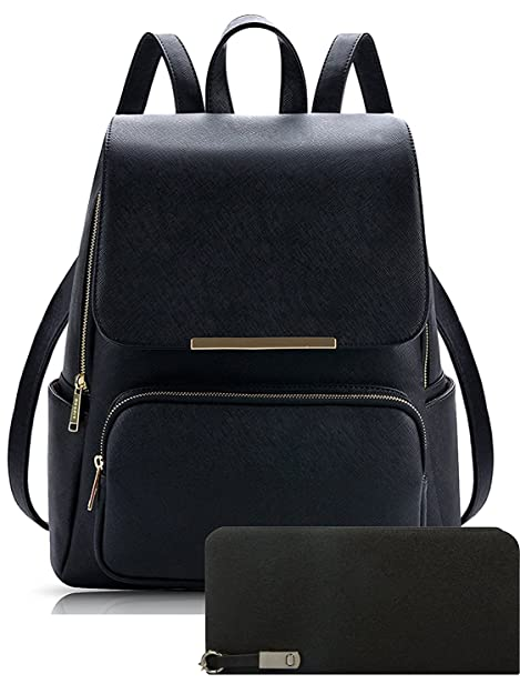 Alice Pu Material Girls Cadence Casual Backpack School   College Bag And  Clutc Combo(Prebkp9) (Black With Clutch)  Amazon.in  Shoes   Handbags d212b99df7ae5