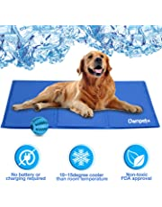 OWNPETS Pet Self Cooling Gel Pad/Cooling Mat, Pressure Activated, Anti-inflammatory, 100% Safe Non-Toxic Materials, for All Dogs, Cats with Pet Toy Ball, 39x24inch (39x24'')