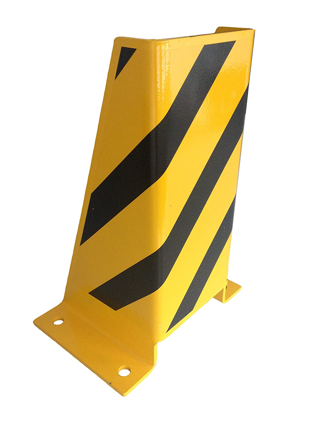 1A-Safety Crash Guard AFS-U made of steel, U-profile, crash protector, collision protection, bumper guard, impact protector, WxDxH: 24,5 x 20 x 40 cm, yellow/black
