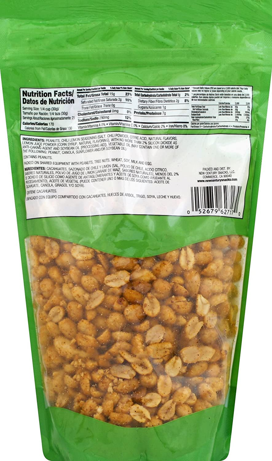 Amazon.com : Muncheros Chili Crunchy Peanuts, 4.5-Ounce, 12-Pack : Grocery & Gourmet Food