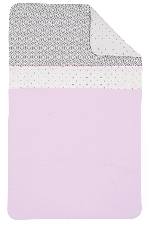 Couverture b/éb/é ouatin/ée 75x120 cm Coton issu de lagriculture biologique peut servir de couette Ptit Basile Collection fille Claudine