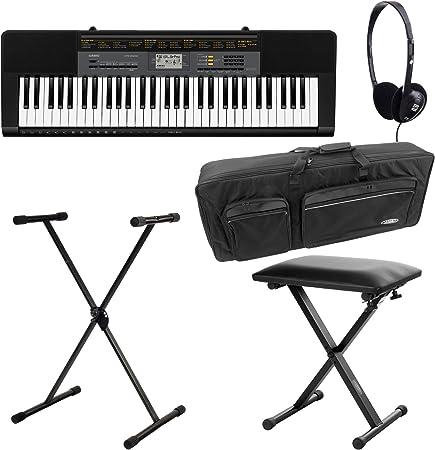 Casio CTK-1100 2500 Deluxe Set de teclado (61 teclas, 48 de ...