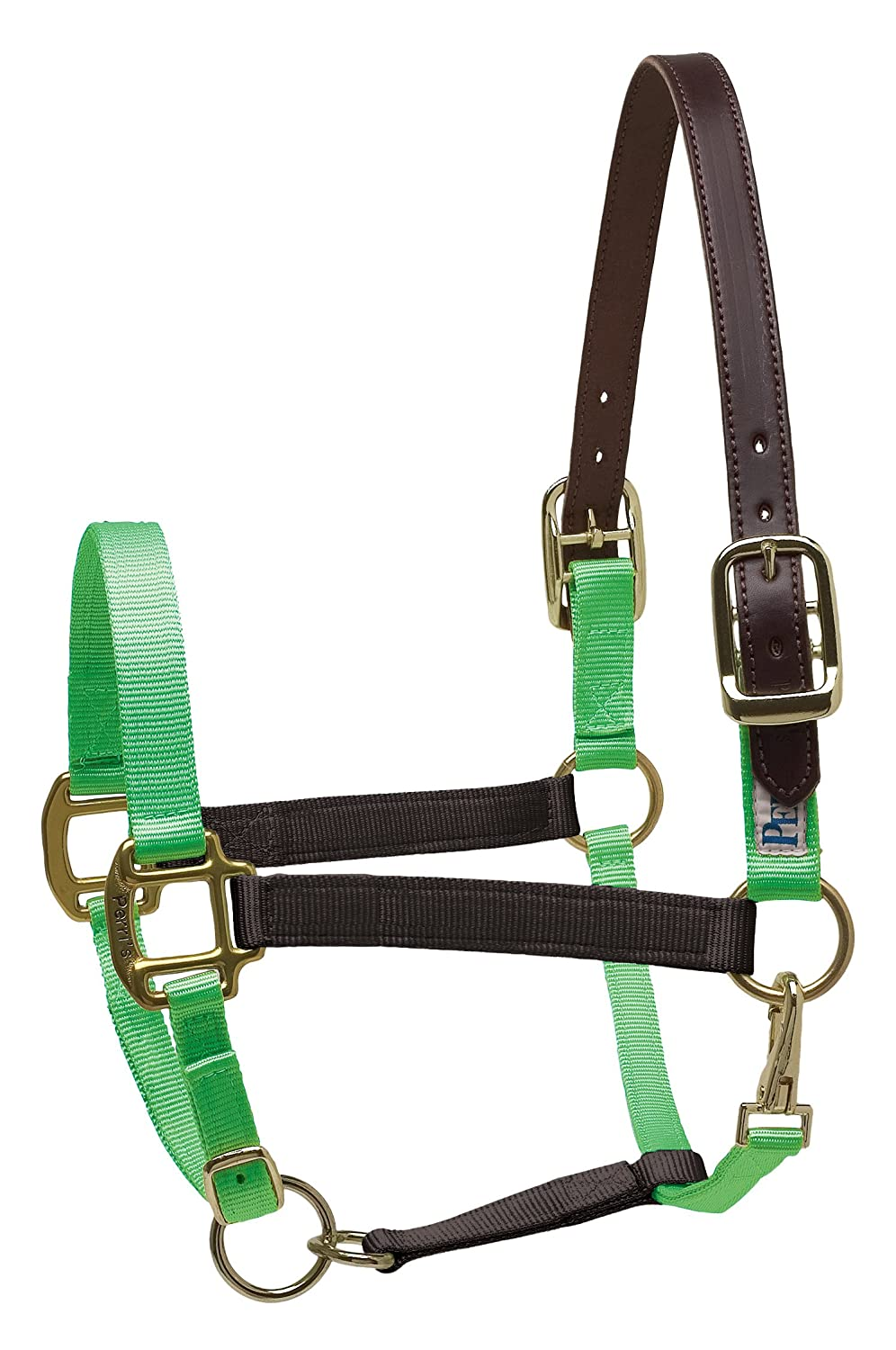 Perri's Safety Halter, Black/Lime, Cob   B00BJLU0VS
