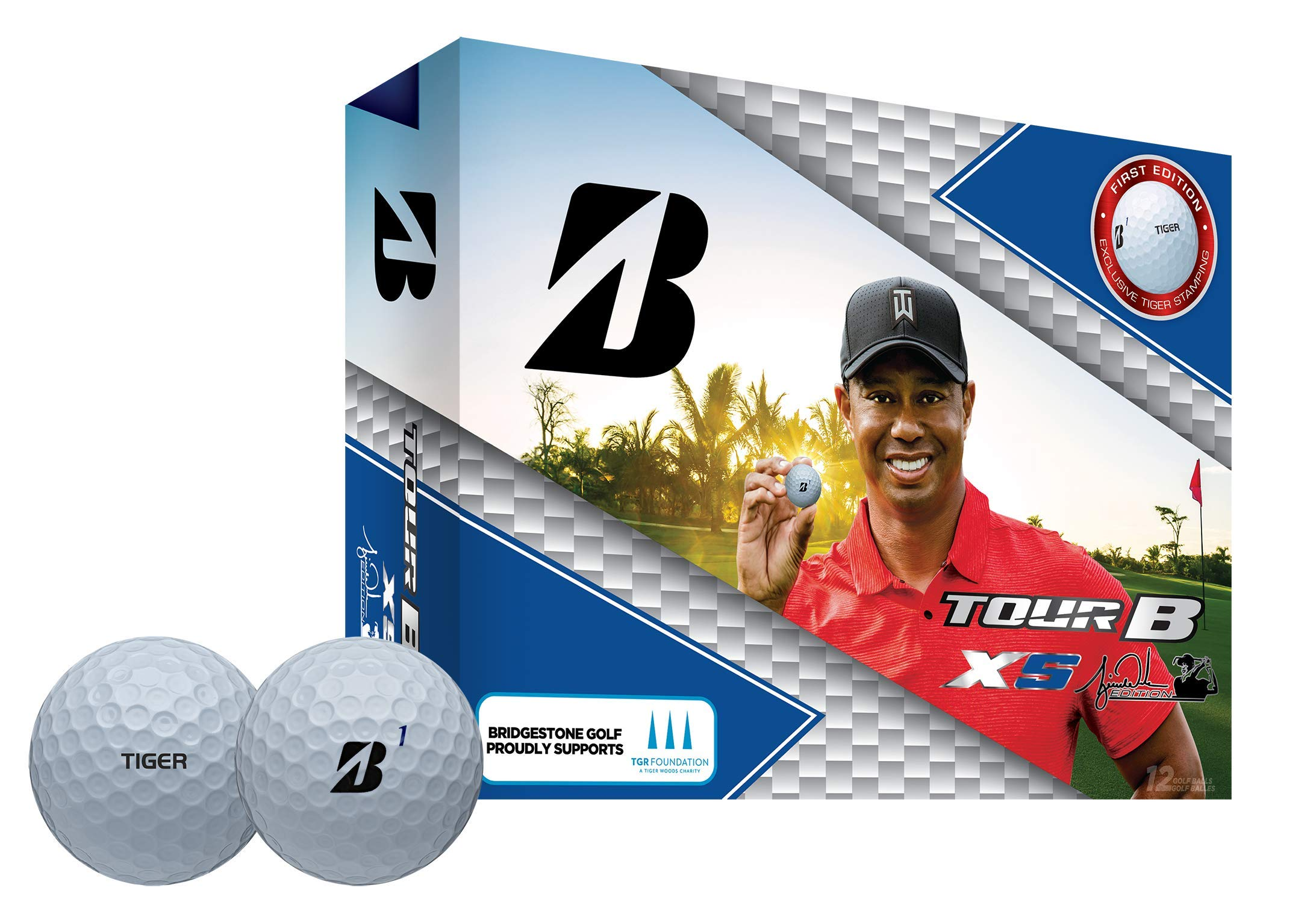 Bridgestone Tour B XS Tiger Woods Edition Golf Balls (One Dozen) Packaging may vary