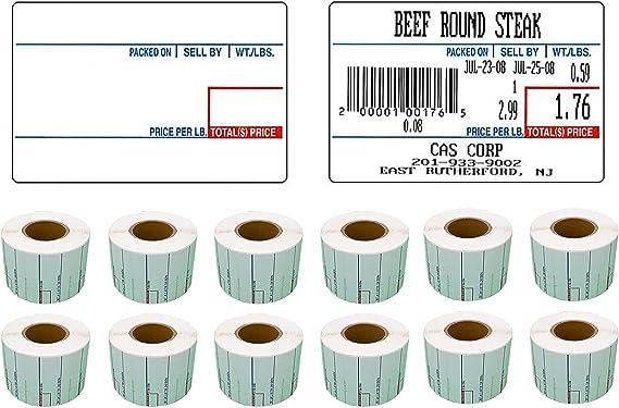 CAS Scale Labels 58mm x 60mm 20 Reels FREE P/&P 10000 Labels