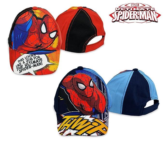 MWS2834 MV92263 Gorra para niños de Spiderman ajustable y con visera (ROJO) 9c89723a03e