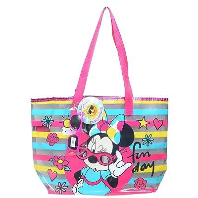 Minnie Mouse Sunglasses & Disney Clear Beach Bag Tote Purse