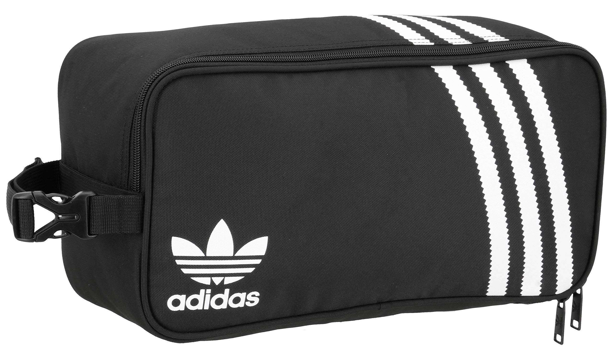 adidas Originals Unisex 3-Stripes Shoe Bag, Black, ONE SIZE by adidas Originals