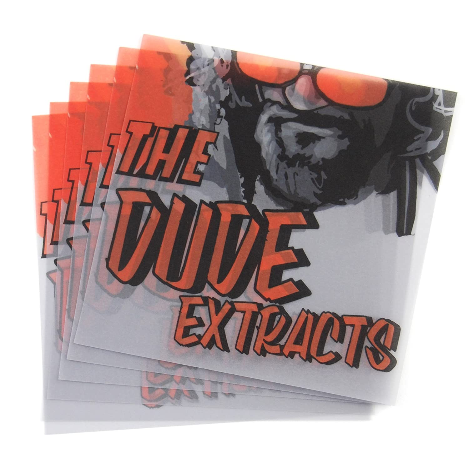 100 The Dude Extracts Parchment Paper MMJ Supply Non Stick Extract Squares 4 x 4 PP-042
