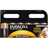 Duracell MN1400 Plus Power C Size Batteries--Pack of 6