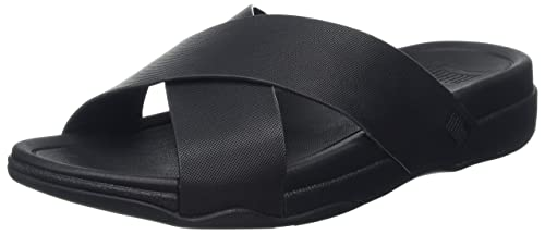 a9fefae04f1b Fitflop Men s Surfer Leather Slide Open-Toe Sandals  Amazon.co.uk ...