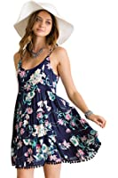 Shopglamla Women's Print Bohemian Boho Dresses Fully Lined