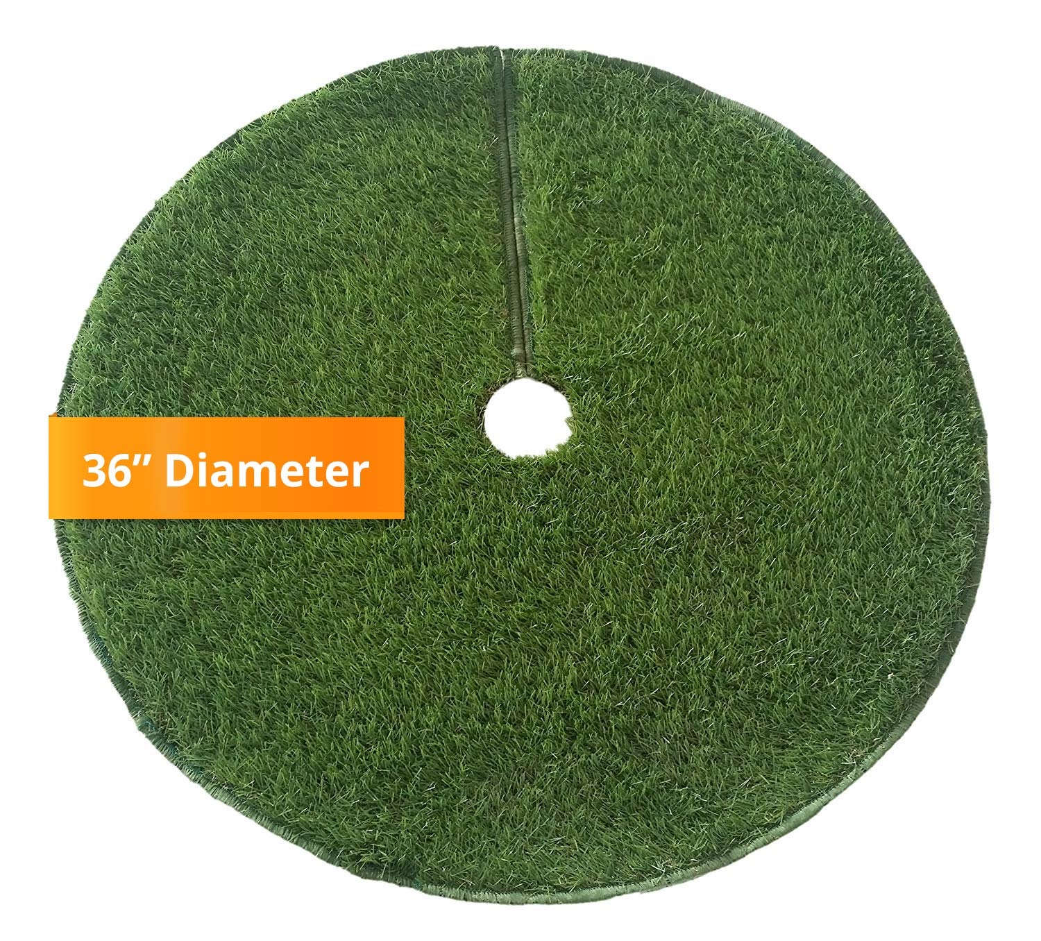 Zen Garden Artificial Grass Christmas Tree Skirt w//Anti-Slip Rubber Base w//Binding Green 36 Dia Unique Holiday Decorations   Realistic Synthetic Grass Rug Indoor /& Outdoor Xmas Tree Skirts