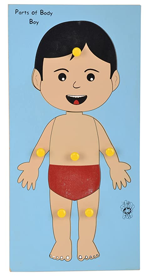 Buy Skillofun Wooden Parts Of Body Tray (Boy) Online at Low Prices ...