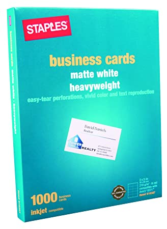 Staples Inkjet Business Cards 2quot X 3 1 Matte