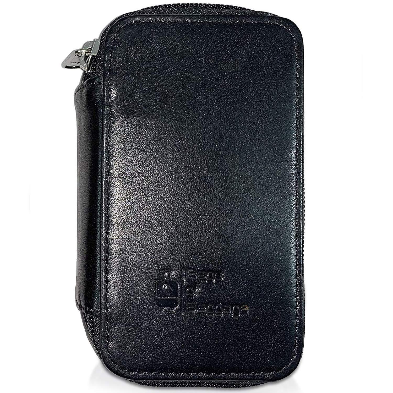 Full Grain Leather Double Edge Safety Razor Case (Black)