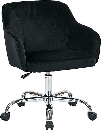 OSP Home Furnishings Bristol Chrome Base Upholstered Task Chair