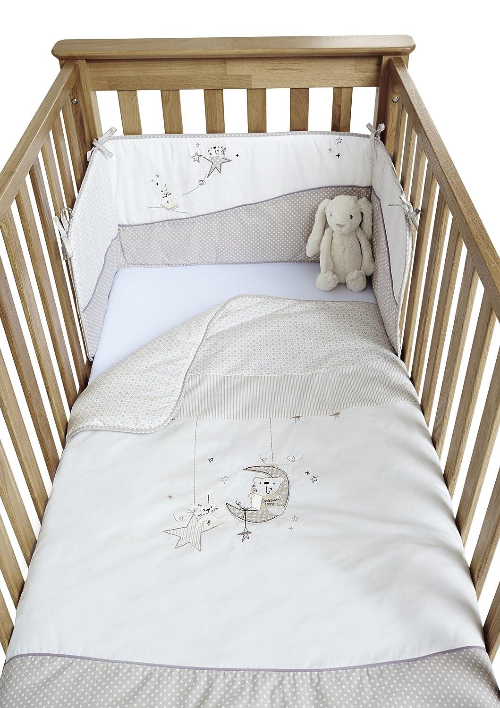 clair de lune bedtime story 2 piece quilt and bumper cot cot bed bedding set neutral amazoncouk baby