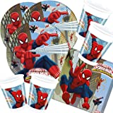 52 Teiliges Party Set Spiderman Web Warriors   Teller Becher Servietten Für  16 Kinder
