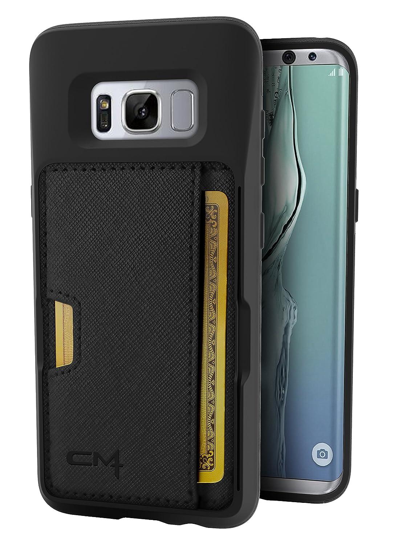 low priced b4f31 194bc Silk Galaxy S8+ Wallet Case - Q Card CASE [Samsung S8 Plus Slim Protective  Kickstand CM4 Grip Cover] - Wallet Slayer Vol.2 - Black Onyx
