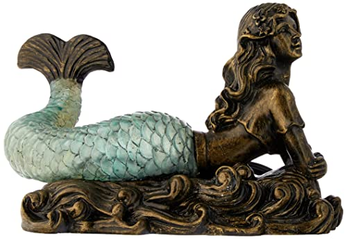 Unique Bronze-Look Mermaid Table Lamp