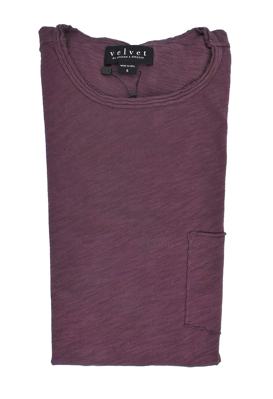 Velvet by Graham /& Spencer Men/'s Chad Ss Cotton Pocket Tee