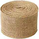 DECORA 10 Yards Natural Jute Burlap Ribbon Roll for Wedding Decoration DIY Craft