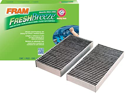 FRAM CF10135 Fresh Breeze Cabin Air Filter With Arm U0026 Hammer