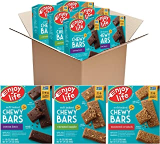 product image for Enjoy Life Soft Baked Chewy Bars, Variety Pack, Nut Free Bars, Soy Free, Dairy Free, Gluten Free, 6 Boxes (30 Total Bars)