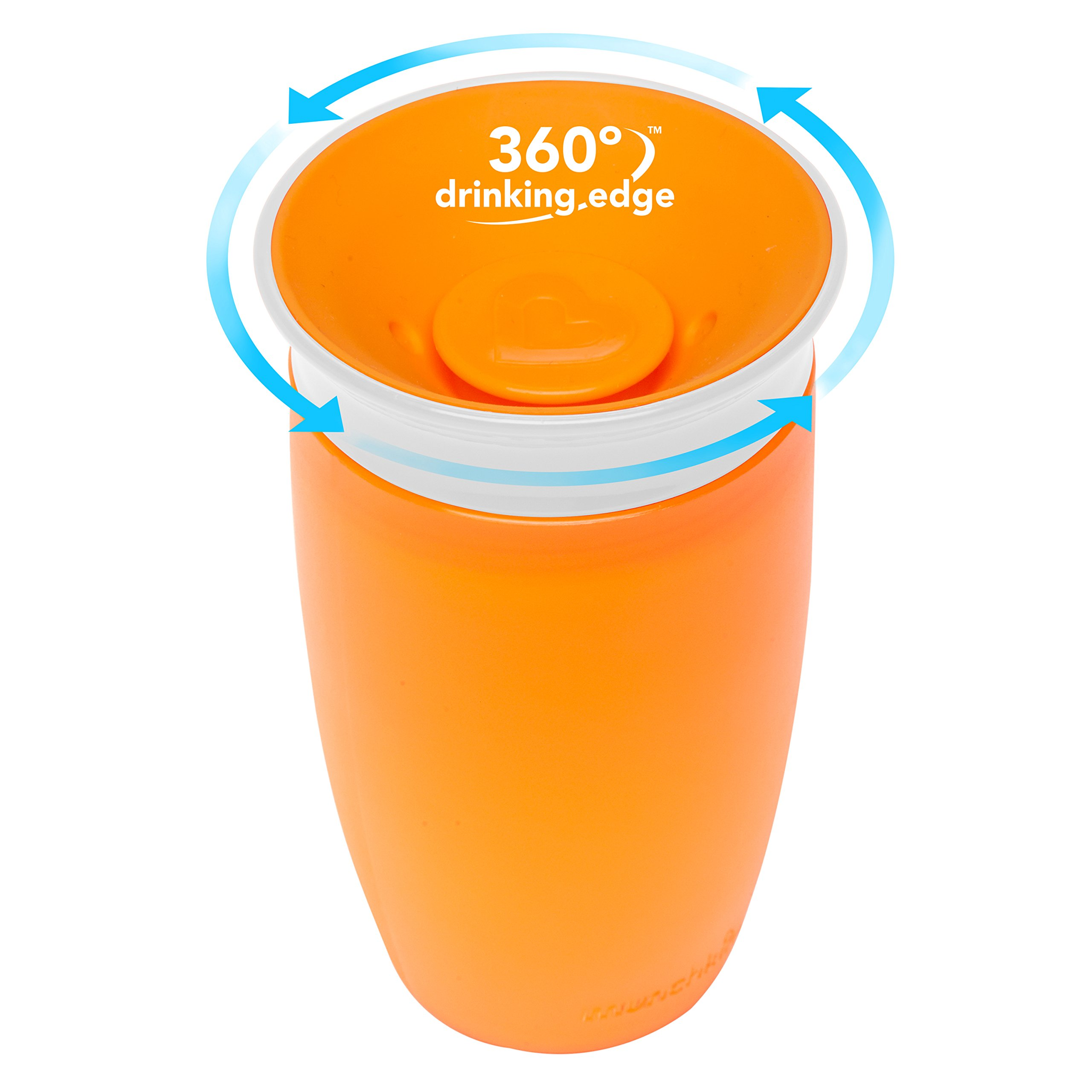 Munchkin Miracle 360 Sippy Cup, Pink/Orange, 10 Ounce, 2 Count by Munchkin (Image #2)
