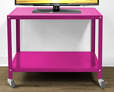 Amazon.com: Urban Shop Rolling TV Cart, Pink: Kitchen & Dining