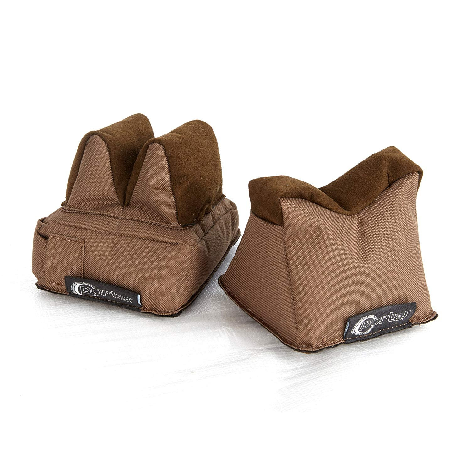 PORTAL Shooting Rest Bag-Rifle Gun Target Pre-Filled Front & Rear Bags for Hunting Shooter, Brown