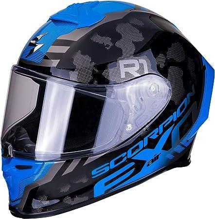 Scorpion Unisex Erwachsene Nc Motorrad Helm Schwarz Blau L Auto