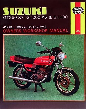 suzuki gt 250 e x7 uk 1979 1981 manuals haynes each amazon rh amazon co uk suzuki gt 250 owners manual suzuki gt 250 repair manual