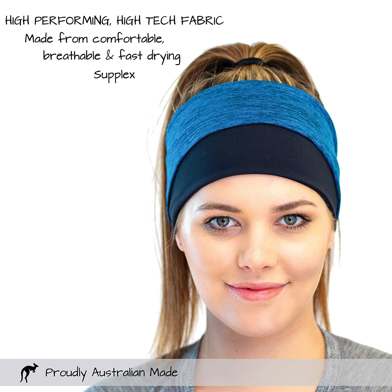 by Red Dust Active Always Stays Put Ponytail Compatible for Sport Never Itchy Running Headband and Winter Ear Warmer for Women Workouts and Cold Weather Athletic Adventures