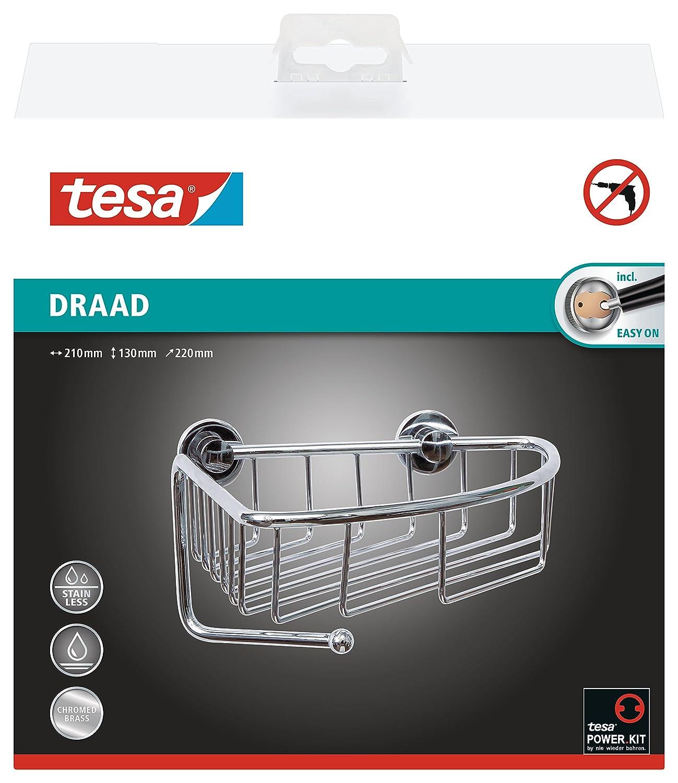 Tesa draad - Mensola angolare da doccia in ottone cromato, 130 x 210 x 220 mm 40226-00000-00
