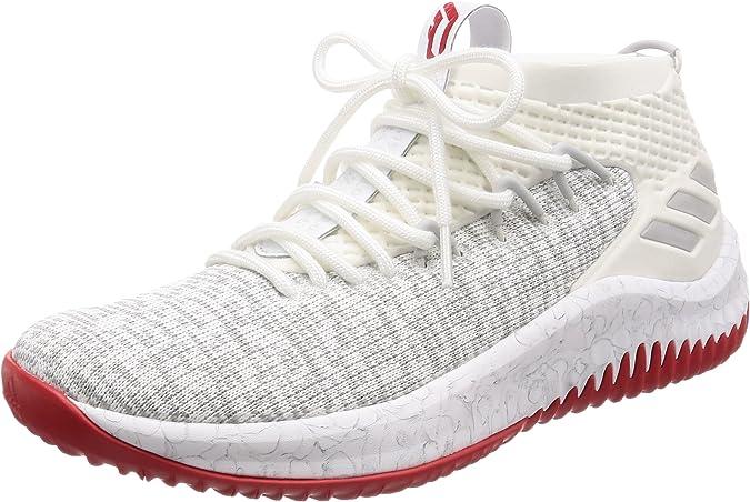 Adidas Dame 4, Zapatillas de Deporte para Hombre, Blanco (Ftwbla/Gridos/Escarl 000), 49 1/3 EU: Amazon.es: Zapatos y complementos
