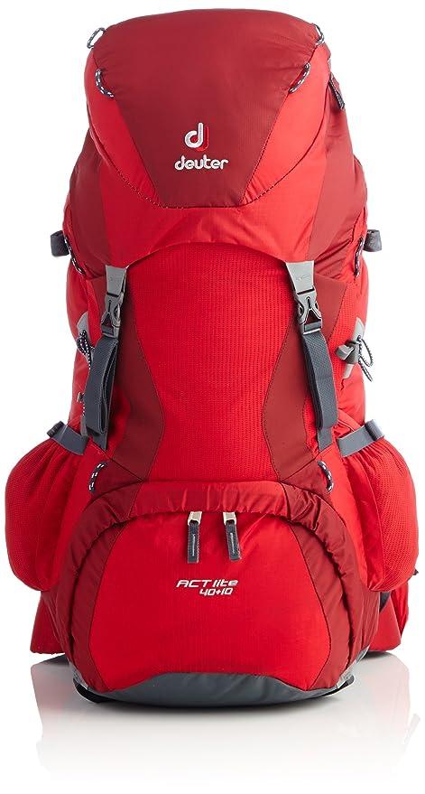 640abf1ddd Deuter Act Lite 40 + 10 - Zaino, Rosso (Fuoco-Mirtillo Rosso), 50 Litri:  Amazon.it: Sport e tempo libero